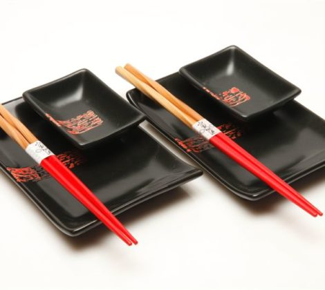 Zestaw do sushi Black budget dla 2 osób