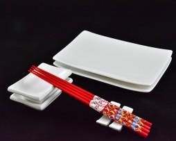 zestaw do sushi biały