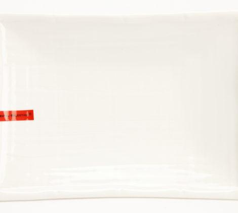 Talerz do sushi 17,5 x 12,5 cm, biały