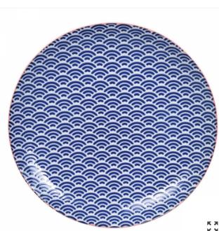 Talerz porcelanowy Tokyo design 25,3 cm, niebieski