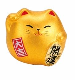 figurka maneki neko złoty 6 cm