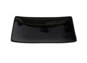 Talerz do serwowania sushi 21,5 x 12,5 cm czarny, połysk