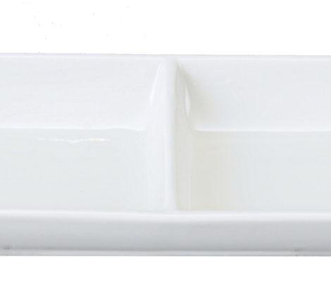 miseczka podwójna SHIRO biała na sos sojowy
