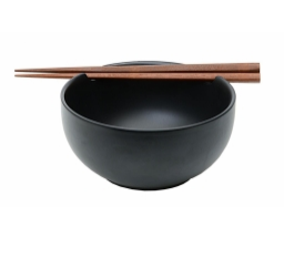 ceramiczna miska do zup czarny mat
