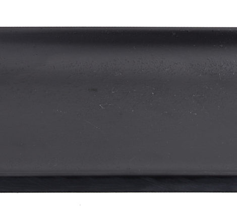 Talerz do sushi z melaminy 22,5 x 9 cm, czarny mat