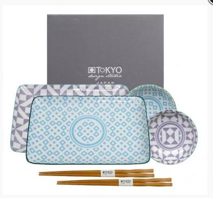 Zestaw do sushi Geo eclectic dla 2 osób Tokyo design Studio