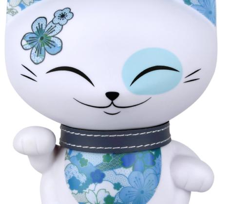 figurka mani lucky cat kot niebieski