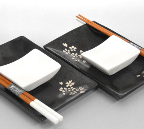 Zestaw do sushi Sakura black dla 2 osób