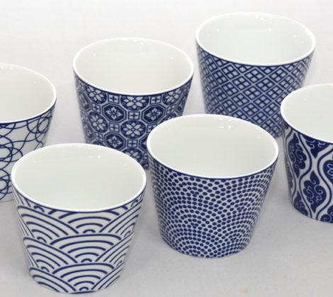 Komplet 6 czarek ceramicznych Tokyo design