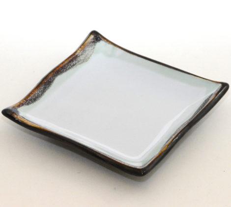 Talerz do sushi kwadratowy Kyoto 13 x 13 cm, biały