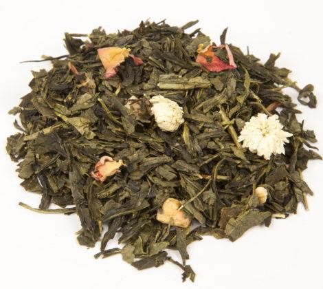 Herbata zielona Sencha z truskawką i lychee premium 100 g