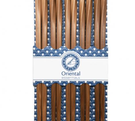 Pałeczki do sushi drewniane kręcone 21 cm 5 par