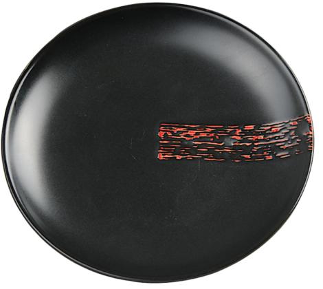 Talerzyk do sushi okrągły Black budget 15,5 cm