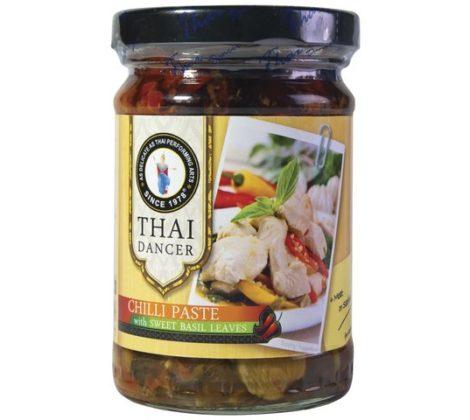 Pasta chilli ze słodkimi liśćmi bazylii TD 200 g