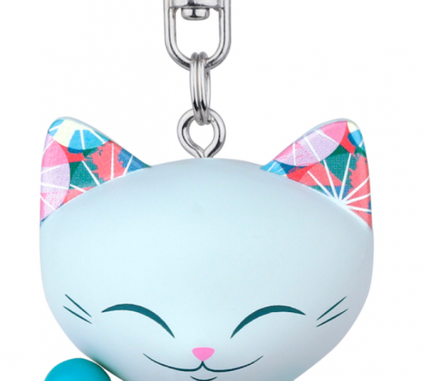 brelok mani lucky cat niebieski 5 c