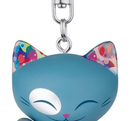 brelok mani lucky cat błękitny 5 cm
