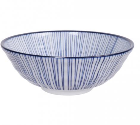 Ceramiczna miska do ramenu czarno - biała 21,5 x 7 cm