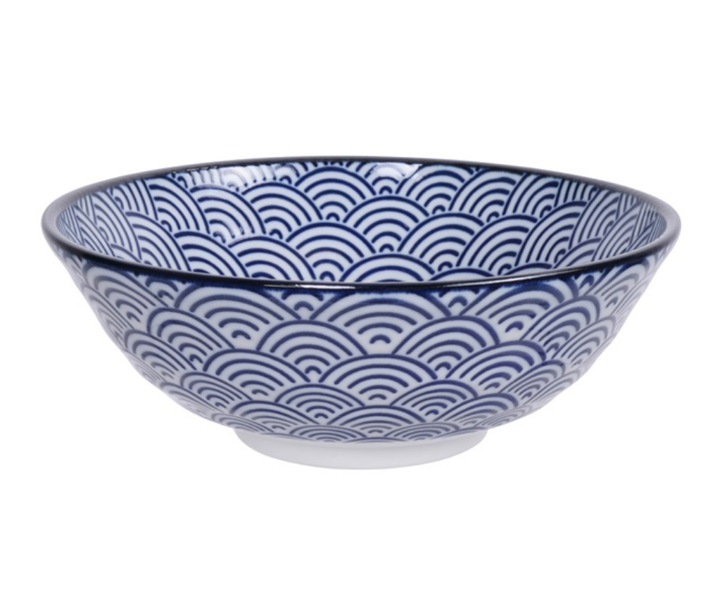 Ceramiczna miska do ramenu Nippoon Wave 21,5 x 7 cm