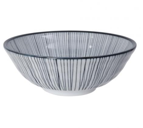 Ceramiczna miska do ramenu Lines 21,5 x 8 cm