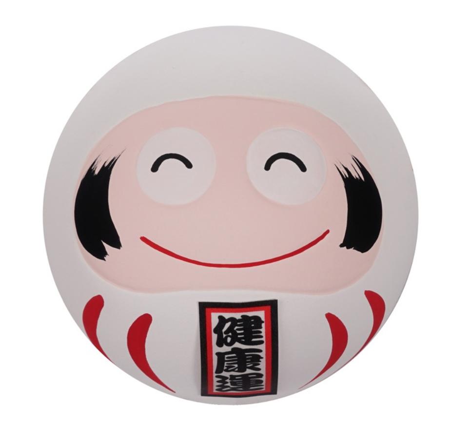 Daruma -figurka biała 6,5 cm