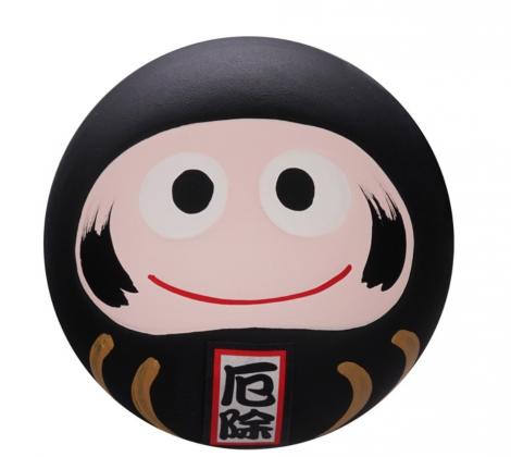 Daruma -figurka czarna 6,5 cm