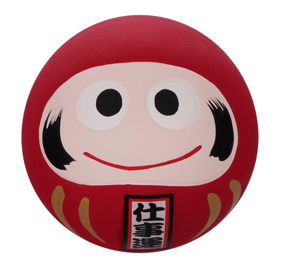 Daruma -figurka czerwona 6,5 cm