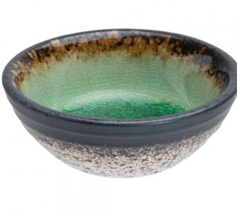 Miseczka na sos sojowy Glassy Green 8.9 cm